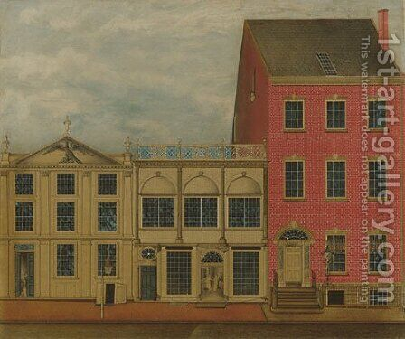 The Shop and Warehouse of Duncan Phyfe Fulton Street New York City 1816 by Anonymous Artist - Reproduction Oil Painting