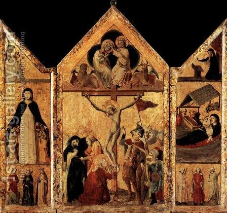 Triptych 1333 by Anonymous Artist - Reproduction Oil Painting