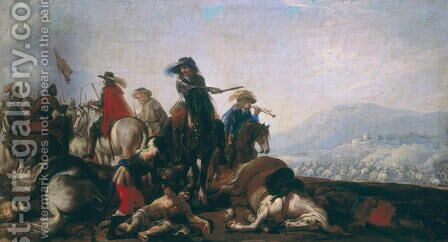 After the Battle by Bernadino Bergognone - Reproduction Oil Painting