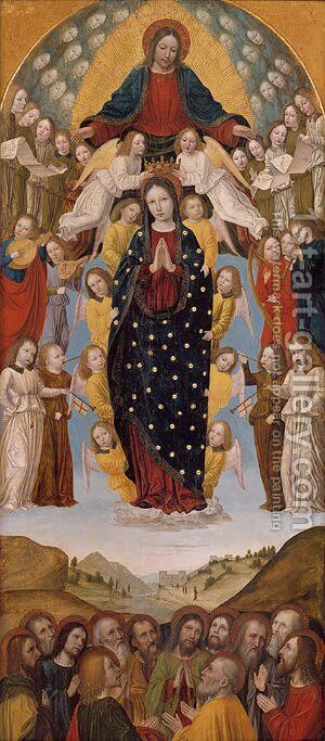 The Assumption of the Virgin by Bernadino Bergognone - Reproduction Oil Painting