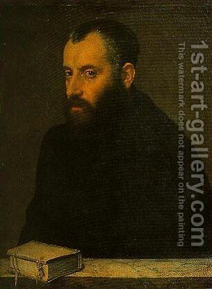 Portrait of a Gentleman with a Book by Giovanni Battista Moroni - Reproduction Oil Painting