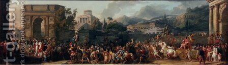 The Triumph of Aemilius Paulus 1789 by Carle Vernet - Reproduction Oil Painting