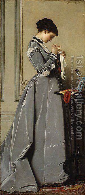 Penelope ca. 1868 by Charles Francois Marchal - Reproduction Oil Painting