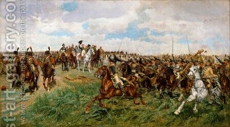 Friedland 1807 1875 by Jean-Louis-Ernest Meissonier - Reproduction Oil Painting