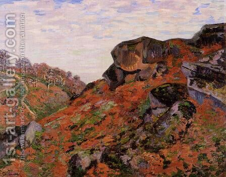 Creuse Landscape 1900 by Armand Guillaumin - Reproduction Oil Painting