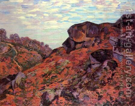 Crozant the Sedelle Heights Morning 1895 by Armand Guillaumin - Reproduction Oil Painting