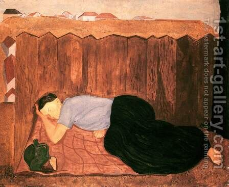 Midday Rest 1933-34 by Imre Nagy - Reproduction Oil Painting