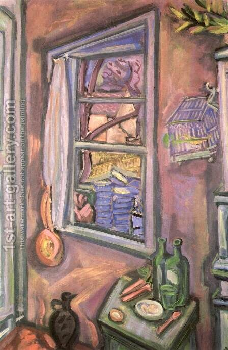 Open Window 1930 by Imre Nagy - Reproduction Oil Painting