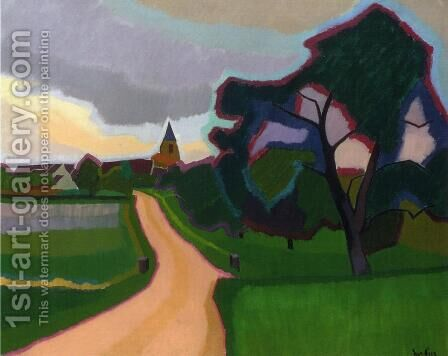 Church at Orgeruse 1908 by Armand Schonberger - Reproduction Oil Painting