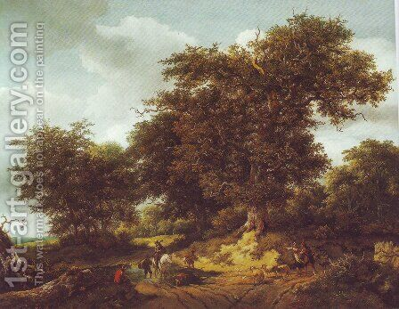 Bentheim castle by Jacob Van Ruisdael - Reproduction Oil Painting