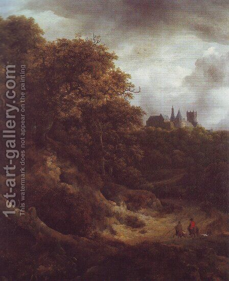 Benthim casle3 by Jacob Van Ruisdael - Reproduction Oil Painting