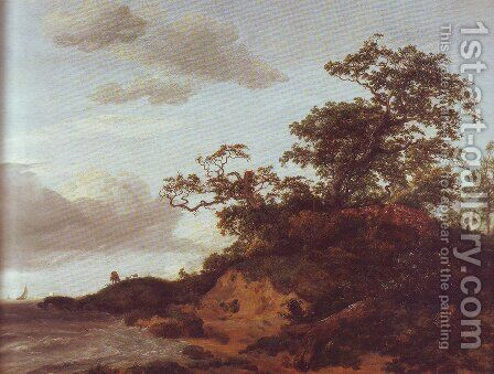 Dunes by the sea by Jacob Van Ruisdael - Reproduction Oil Painting