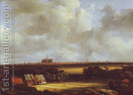 View of haarlem with bleaching grounds2 by Jacob Van Ruisdael - Reproduction Oil Painting