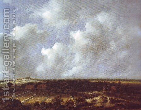 View of the dunes near bloemendaal with bleaching fields by Jacob Van Ruisdael - Reproduction Oil Painting