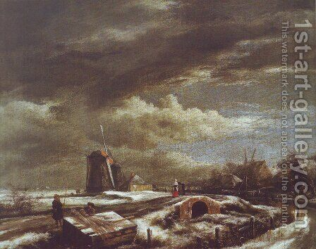 Winter landscape 2 by Jacob Van Ruisdael - Reproduction Oil Painting