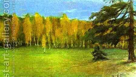 Autumn Landscape 1890 1899 by Isaak Ilyich Levitan - Reproduction Oil Painting