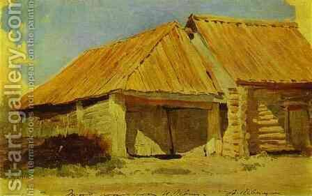 Barns Study 1885 by Isaak Ilyich Levitan - Reproduction Oil Painting