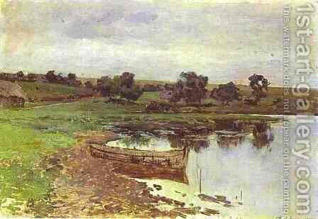 By the Riverside Study 1885 by Isaak Ilyich Levitan - Reproduction Oil Painting