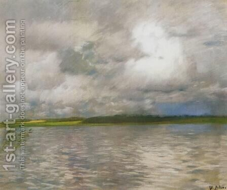 Cloudy Day 1895 by Isaak Ilyich Levitan - Reproduction Oil Painting