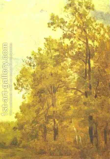 Edge of a Forest Study 1882 by Isaak Ilyich Levitan - Reproduction Oil Painting