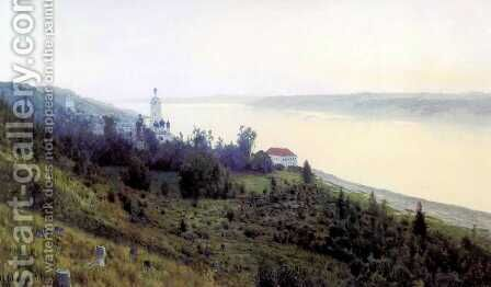 Evening The Golden Plyos 1889 by Isaak Ilyich Levitan - Reproduction Oil Painting