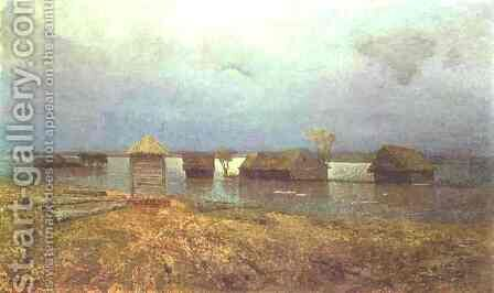 High Waters 1885 by Isaak Ilyich Levitan - Reproduction Oil Painting