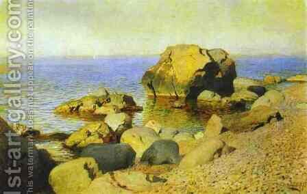 Seashore The Crimea 1886 by Isaak Ilyich Levitan - Reproduction Oil Painting