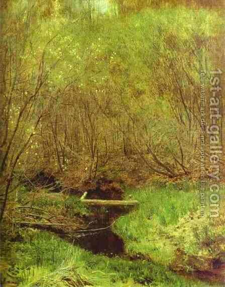 Spring in the Forest 1882 by Isaak Ilyich Levitan - Reproduction Oil Painting