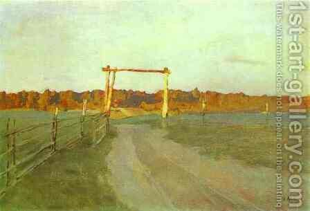 Summer Evening 1899 by Isaak Ilyich Levitan - Reproduction Oil Painting