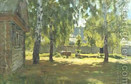 Sunny day 1898 by Isaak Ilyich Levitan - Reproduction Oil Painting