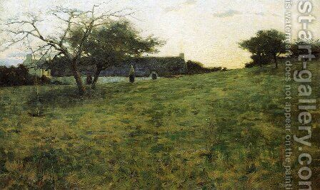 Au Soir 1889 by Arthur Wesley Dow - Reproduction Oil Painting