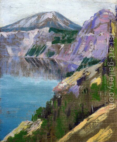 Crater Lake 1919 by Arthur Wesley Dow - Reproduction Oil Painting