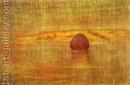 Haystack in an Ipswich Marsh 1917 by Arthur Wesley Dow - Reproduction Oil Painting