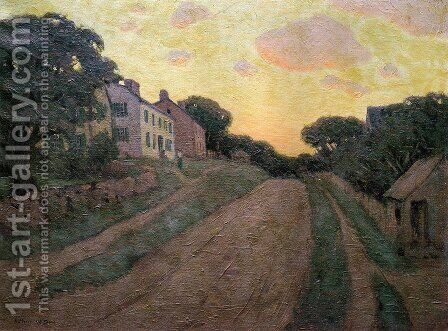 Summer Street 1890 by Arthur Wesley Dow - Reproduction Oil Painting