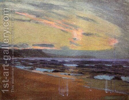 Sunset at Gay Head Marthas Vinyard Massachusetts 1917 by Arthur Wesley Dow - Reproduction Oil Painting