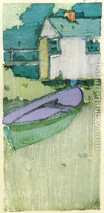 The Dory 1895 by Arthur Wesley Dow - Reproduction Oil Painting