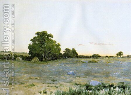Water Meadows at Sunset 1890 by Arthur Wesley Dow - Reproduction Oil Painting