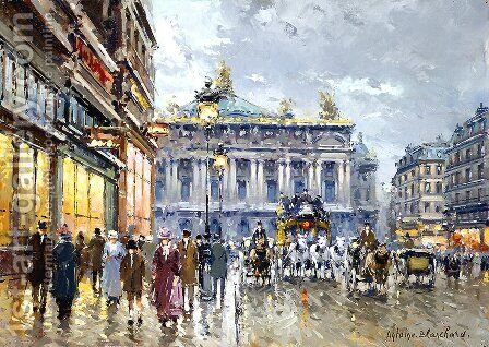 Avenue de l Opera by Agost Benkhard - Reproduction Oil Painting