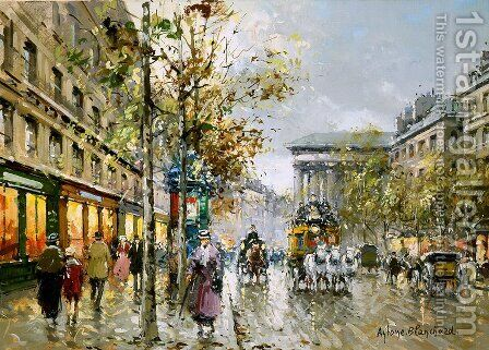 Boulevard de la Madeleine1 by Agost Benkhard - Reproduction Oil Painting
