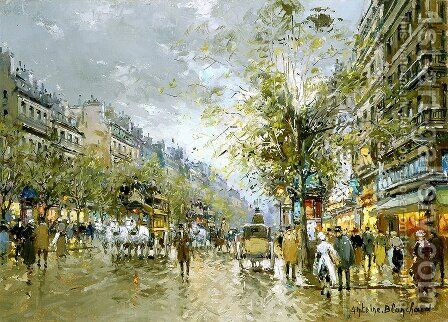 Boulevard des Capucines by Agost Benkhard - Reproduction Oil Painting
