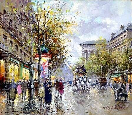 Boulevard des Capucines1 by Agost Benkhard - Reproduction Oil Painting