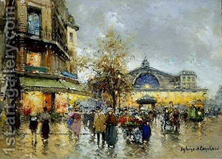 Gare de l Est2 by Agost Benkhard - Reproduction Oil Painting
