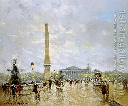 Place de la Concorde by Agost Benkhard - Reproduction Oil Painting