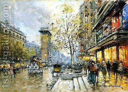 Porte St Denis by Agost Benkhard - Reproduction Oil Painting