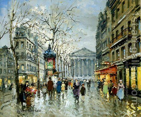 Rue Tronchet La Madeleine by Agost Benkhard - Reproduction Oil Painting