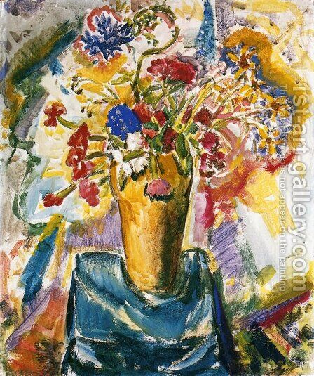 Flowers in a Vase Date unknown by Alfred Henry Maurer - Reproduction Oil Painting