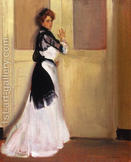 Girl in White 1901 by Alfred Henry Maurer - Reproduction Oil Painting