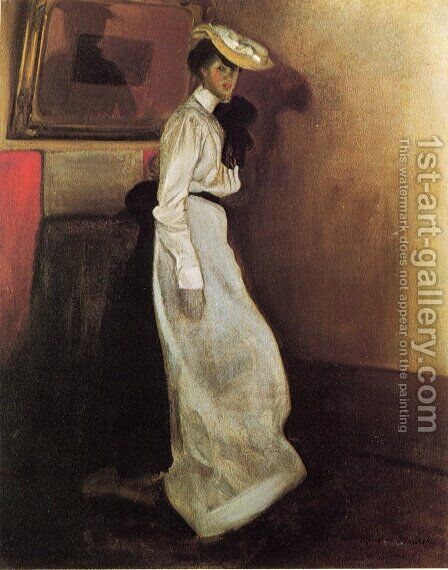 Jeanne in Interior 1901-1905 by Alfred Henry Maurer - Reproduction Oil Painting