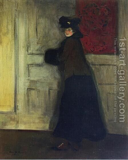 Lady with Muff 1904 by Alfred Henry Maurer - Reproduction Oil Painting