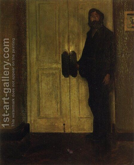Man at the Door Date unknown by Alfred Henry Maurer - Reproduction Oil Painting